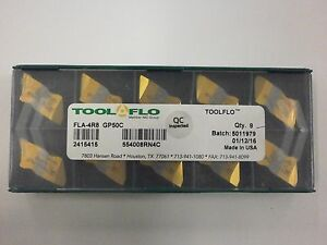 10pc Toolflo Fla 4r8 Gp50 Top Notch Carbide Acme Threading Inserts Na 4r8