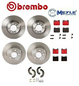 Mercedes W126 300se Front And Rear Disc Brake Rotors With Pads Shoes And Sensors