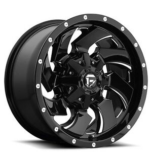 4 set Off Road 18 Fuel Wheels D574 Cleaver Black Rims