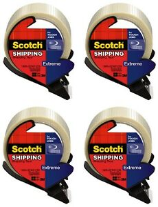 4 3m Scotch 8959 rd 1 88 X 21 8yd Extreme Strapping Shipping Tape W Dispenser