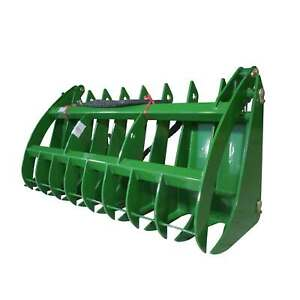 Titan 72 Grapple Rake Attachment Fits John Deere Global Euro Loaders