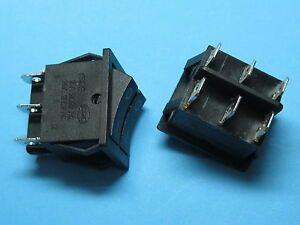 50 Black Rocker Switch On off Dpdt 6 Terminal 15a 250v 20a 125v Kcd3 Without Led