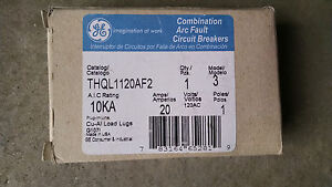 Ge Thql1120af2 Circuit Breaker Combo Arc Fault 1p 20amp New