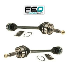 For Vw Vanagon Syncro H4 4wd Pair Set Of 2 Front Cv Axles Shafts Assies Feq