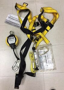 Msa Workman Full Body Vest style Harness With Extra Carabiners And Workman Pfl