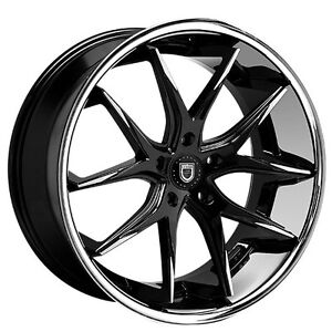 4 Rims 20 Staggered Lexani Wheels R Twelve Black W Ss Lip Rims