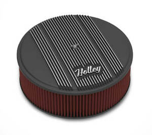 Holley 120 157 14 Round Finned Air Cleaner