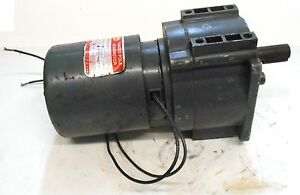 Dayton Shaded Pole Gearmotor 3m328a 1 20 Hp 115 Volts Type 63