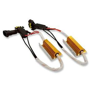 2x H11 Led Hid Headlight Canbus Error Anti Flicker Resistor Canceller Decoder