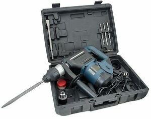 1 1 2 Sds Rotary Hammer Drill Kit Concrete Demolition Tool 1 5 W Bits