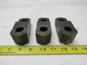D 6653 Lathe Chuck Top Jaws 3 3 4 X 1 3 8 X 1 7 16 Lot Of 3