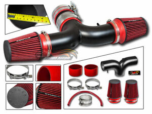 Matte Black Air Induction Intake Kit Dual Filter For 04 09 Durango 5 7 Hemi V8