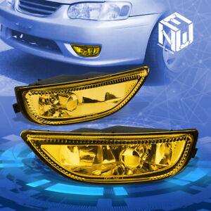 Yellow Amber Front Driving Fog Light lamp Pair For 2001 2002 Toyota Corolla E120