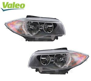 For Bmw E82 E88 Pair Set Of 2 Front Halogen Headlights Assembly Oem Valeo