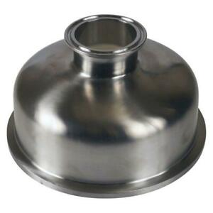 Bowl Reducer Tri Clamp clover 6 Inch X 2 Sanitary Ss304