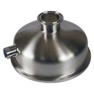 Bowl Reducer Tri Clamp clover 6 Inch X 1 5 1 1 2 X 1 4 Fnpt Sanitary Ss304