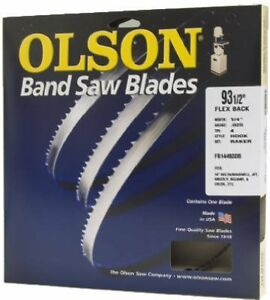 Durable Flexible Olson Bench Top Band Saw Blade 1 8 Wide X 56 1 8 Long