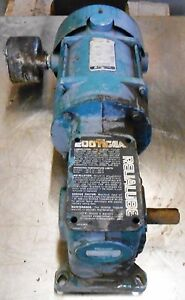 Reliance Motor With Gearbox P56g244it Sj K56c 1 Hp 230 460 Volts