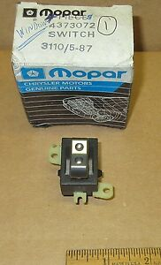 Mopar Window Switch Front Door 1987 1994 Chrysler Dodge Plymouth 4373072 Nos