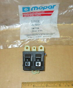 Mopar Window Switch 2 gang Door 1986 1994 Chrysler Dodge Plymouth 4373077 Nos