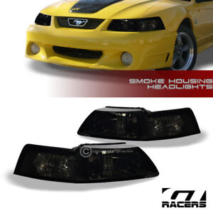 For 1999 2004 Ford Mustang Smoke Clear Housing Headlights Corner Signal Lamps Nb