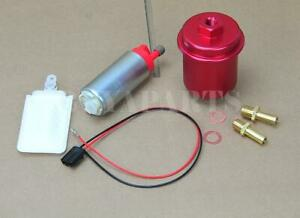 255lph In Tank Fuel Pump Red Cleanable Filter Kit For 1988 2000 Honda Civic