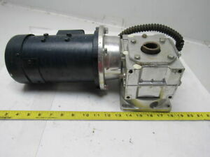 Leeson 098002 00 C42d17fk2a 90vdc 1 4hp 1750rpm Electric Motor W 20 1 Gear Box