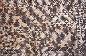 Antique Kuba Cloth Raffia Textile Traditional African Tribal Money Congo Africa