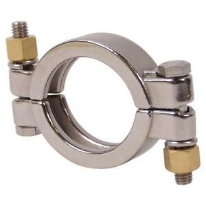 High Pressure Tri Clamp clover 2 Inch Bolted Sanitary Ss304 10 Pack