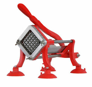 Vivo Commercial Grade Red French Fry Cutter Potato Slicer 1 2 Inch Blade