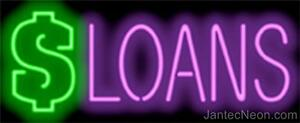 Loans Genuine Neon Sign Jantec Usa 37x15 Fast Free Ship Auto Finance Personal