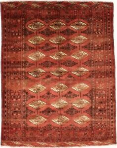Unique Tribal S Antique Handmade Vintage Turkoman Oriental Rug Area Carpet 4x5