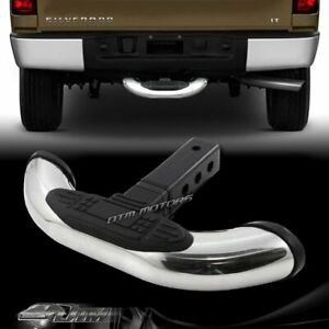 1 25 2 Receiver Stainless Towing Trailer Hitch Cover Back Step Bar Universal 4