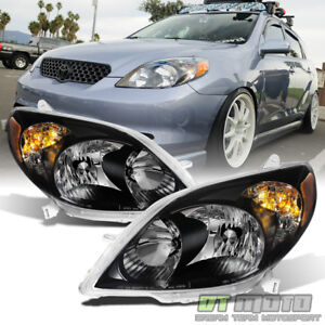 For Blk 2003 2008 Toyota Matrix Headlights Healamps Replacement 03 08 Left right
