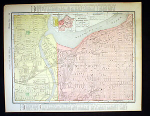 Antique Map Kansas City Main Portion Or State Of Arkansas 1898 Color
