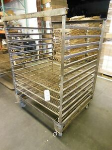 Portable Oven Rack For Grieve Industrial Oven 304 Stainless Steel Roll In Cart