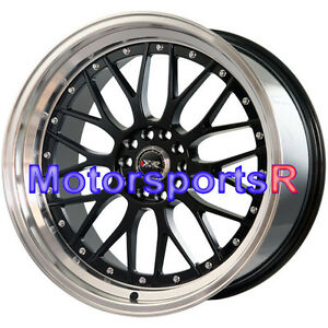 Xxr 521 20 X 8 5 10 Black Machine Deep Dish Step Lip Staggered Rims Wheels 5x120