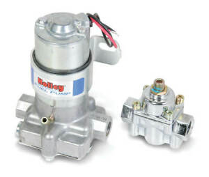 Holley 712 802 1 110 Gph Blue Electric Fuel Pump With Regulator
