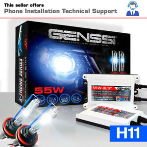 55w H11 Hid Kit Headlight Bulbs White Blue Xenon Conversion Light Aftermarket