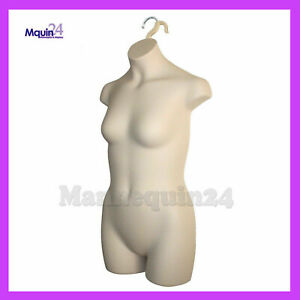 Mannequin Teen Girl Kids Sizes 10 12 Flesh Plastic Hanging Dress Form