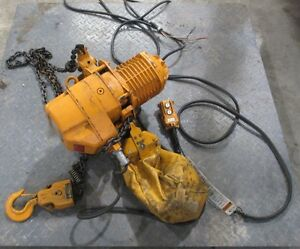 Harrington 1 Ton 15 Ft Hoist Model Esb 885 13 Fpm With Yaskawa Electric 3 Phase