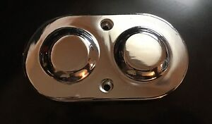 Master Cylinder Cover Top Cap Dual Bail Gm Chrome Aluminum Chevy Pontiac Buick