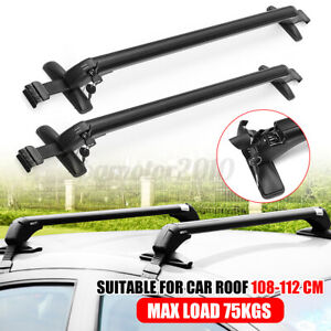 Aluminum Car Top Luggage Roof Rack Cross Bar Carrier Adjustable Window Frame Us