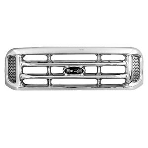 Grill For 99 04 Ford F 250 Sd F 350 Sd F 450 Sd F 550 Sd Grille Fo1200417