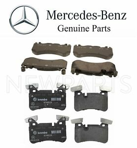 For Mercedes W212 W218 Cls63 Amg Set Of Front Rear Disc Brake Pads Genuine