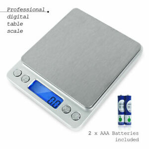 2000g 17 64oz Led Smart Digital Electronic Kitchen Food Diet Postal Scale Weight