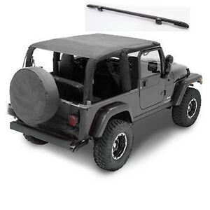 2004 2006 Jeep Wrangler Unlimited Extended Bikini Top Windshield Channel Combo