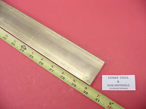 1 4 X 2 C360 Brass Flat Bar 30 Long Solid 250 Plate Mill Stock H02