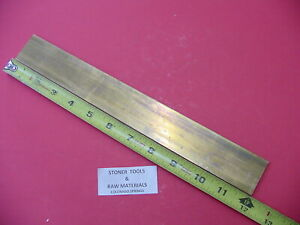 1 4 X 2 C360 Brass Flat Bar 12 Long Solid 25 Mill Stock H02