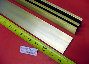 4 Pieces 1 4 X 2 C360 Brass Flat Bar 14 Long Solid 250 Plate Mill Stock H02